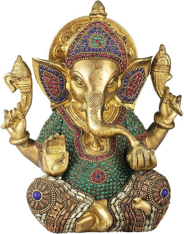 Crowned Inlay Ganesha