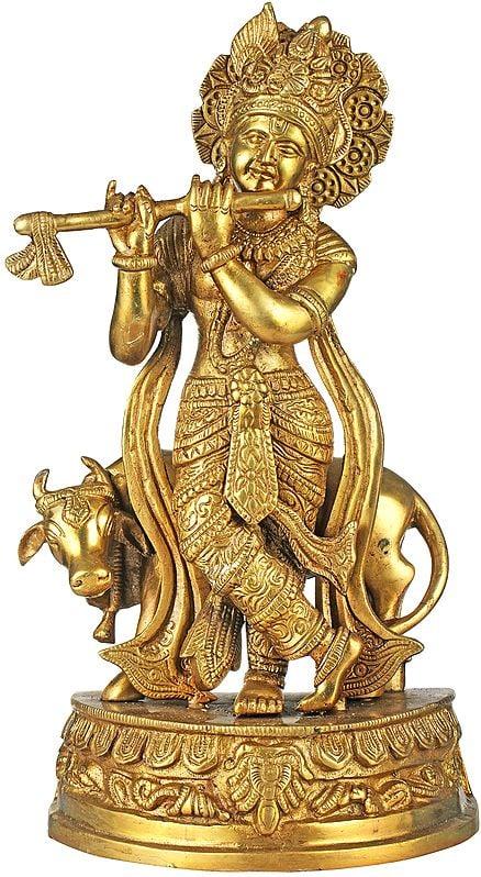 Venugopala (Fluting Krishna with His Cow)