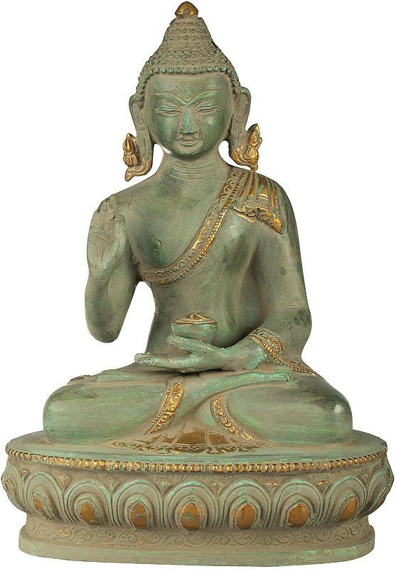 Tibetan Buddhist Shakyamuni Buddha in Preaching Mudra