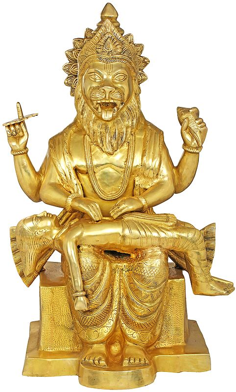 Narasimha Killing the Demon Hiranyakashipu - Large Size