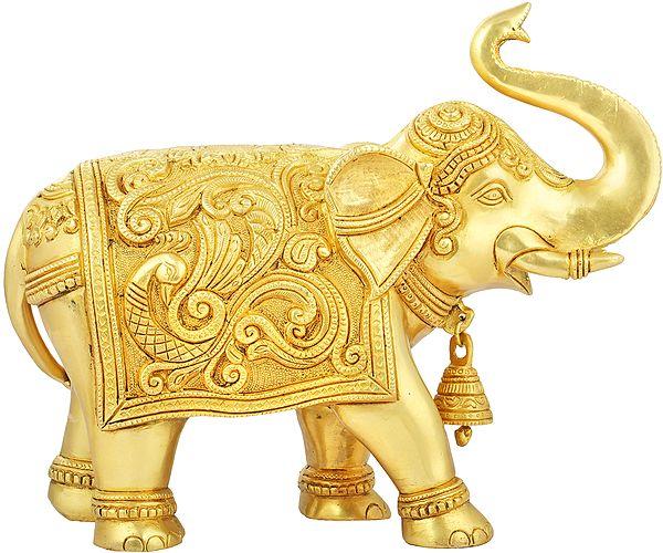 Decorated Elephant with Upraised Trunk (Supremely Auspicious according to Vastu)