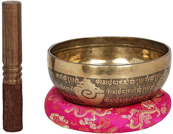 Superfine Tibetan Buddhist Vishwa-Vajra Singing Bowl From Nepal