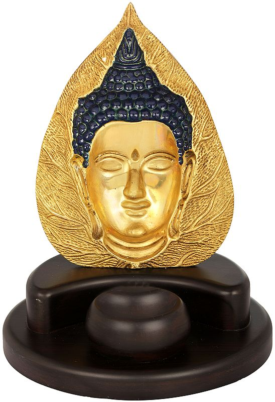 Pipal Leaf Buddha Candle Holder - Tibetan Buddhist