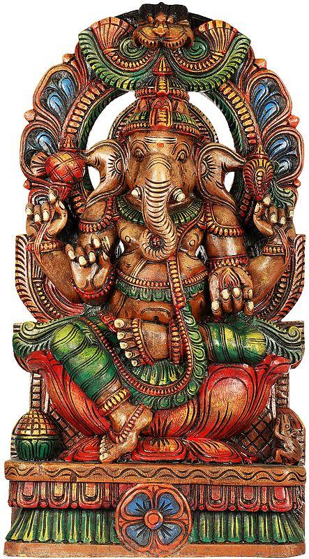 Lord Ganesha With Shaivite Tilak