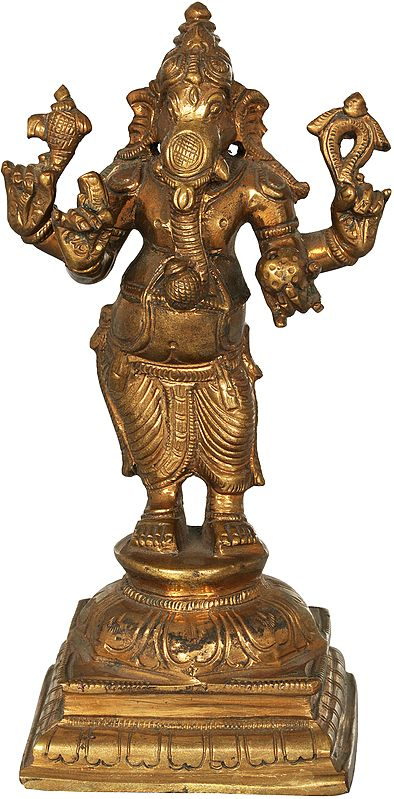 Ganesha Holding Kumbha In His Trunk