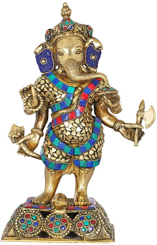 Standing Inlay Ganesha
