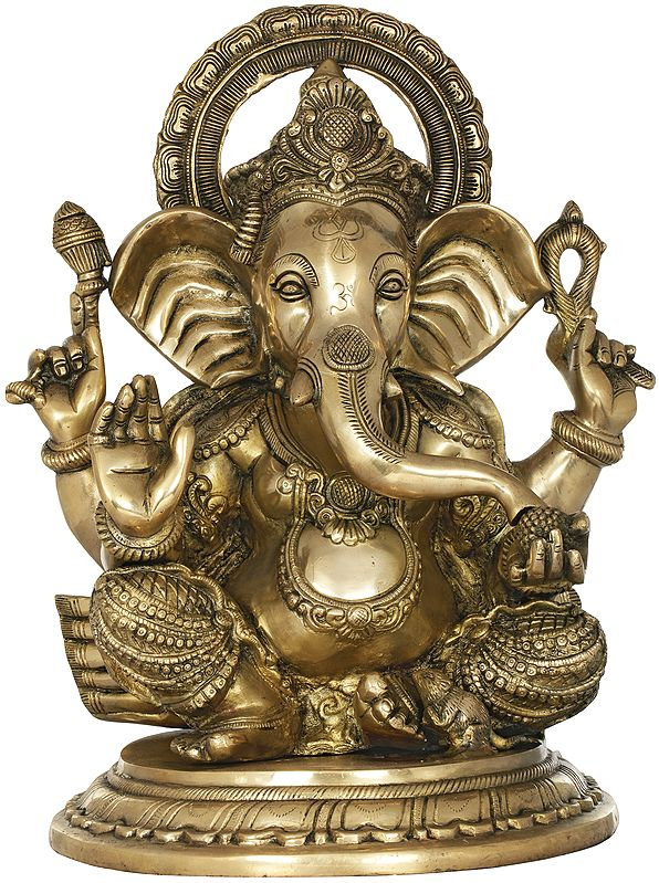 Ganesha with Large Ears Granting Abhaya