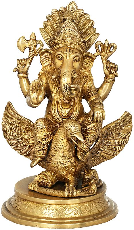Ganesha Riding on Garuda