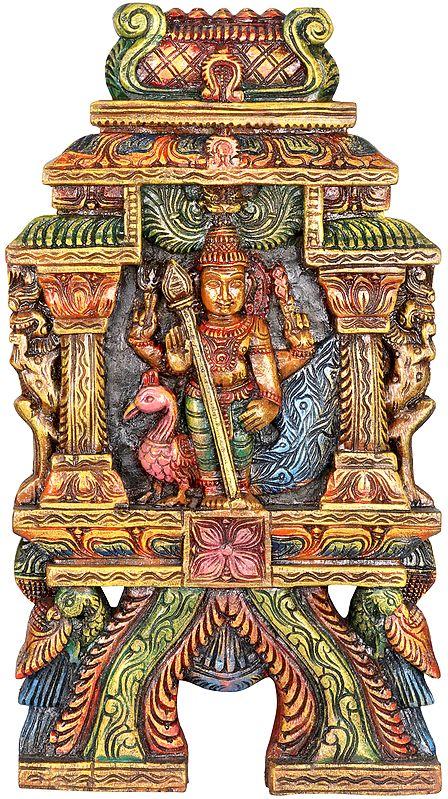 The Warrior God Karttikeya (Wall Hanging)