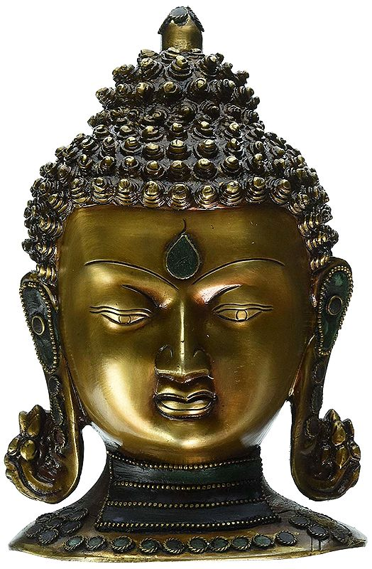 Buddha Head with Stones