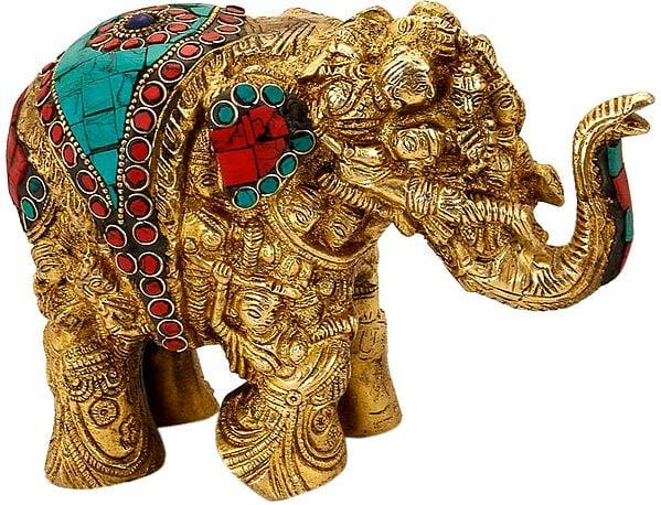 Elephant Made of Lady Figures