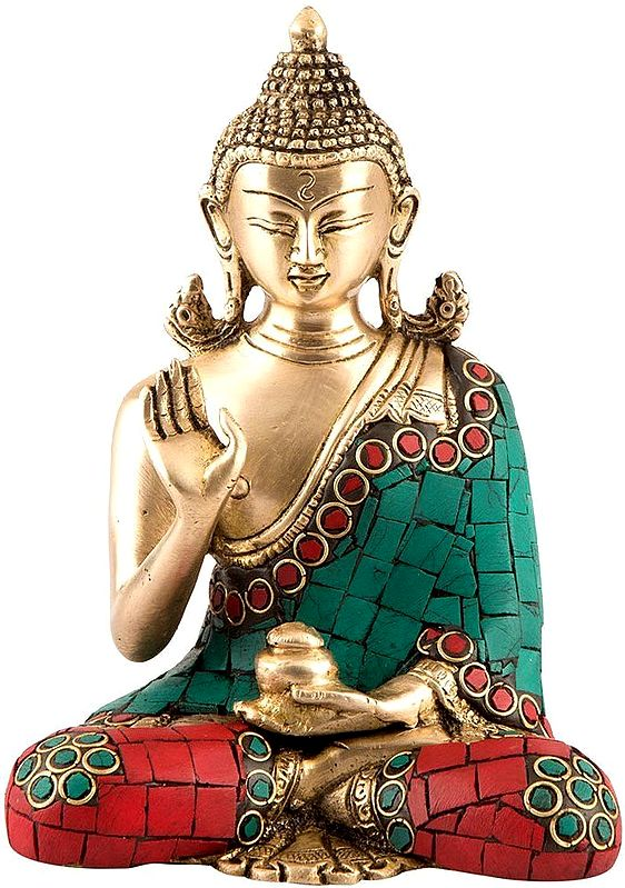 Blessing Lord Buddha with Inlay