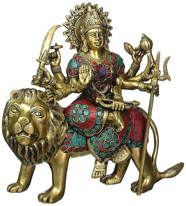 Goddess Durga Seated on Lion