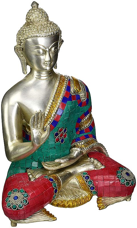Blessing Buddha with Inlay