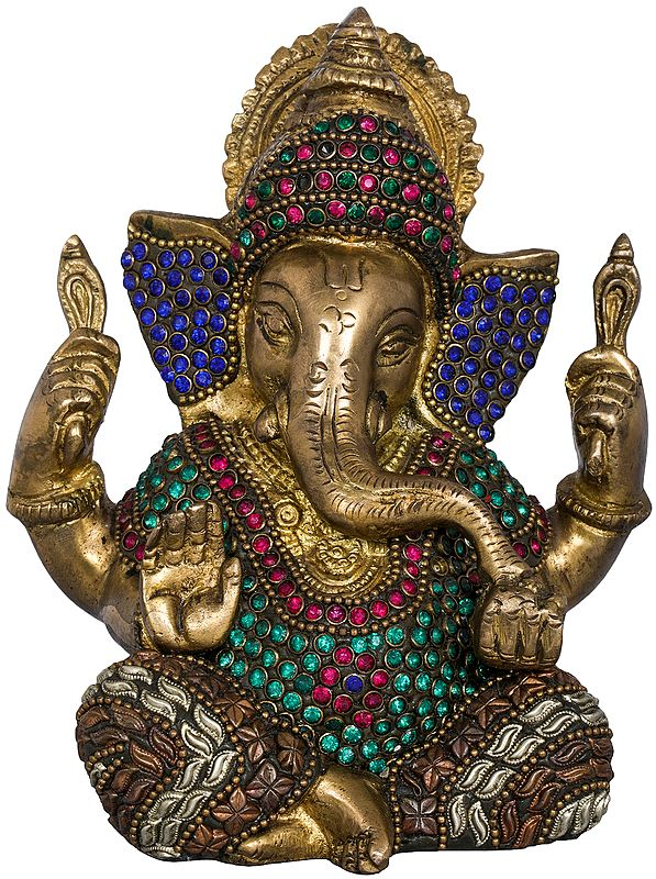 Crowned Inlay Ganesha