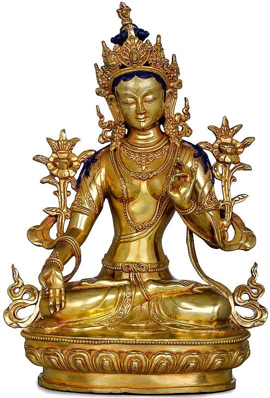 Goddess White Tara -Tibetan Buddhist (Made in Nepal)