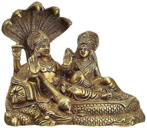 Lord Visnhu with Goddess Lakshmi