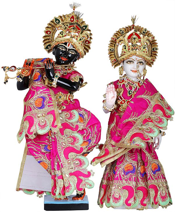Radha Krishna with Shringara