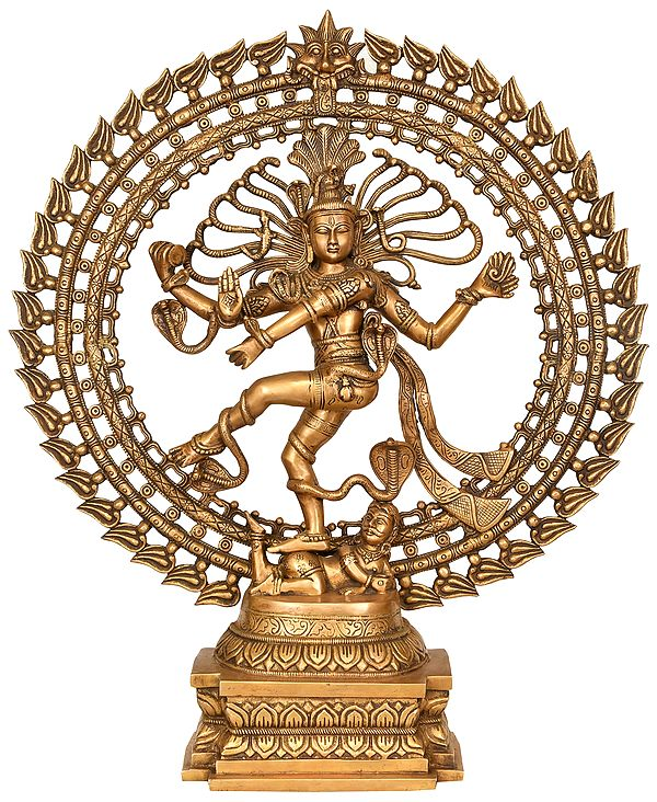 Nataraja in a Stylized Ring of Flames