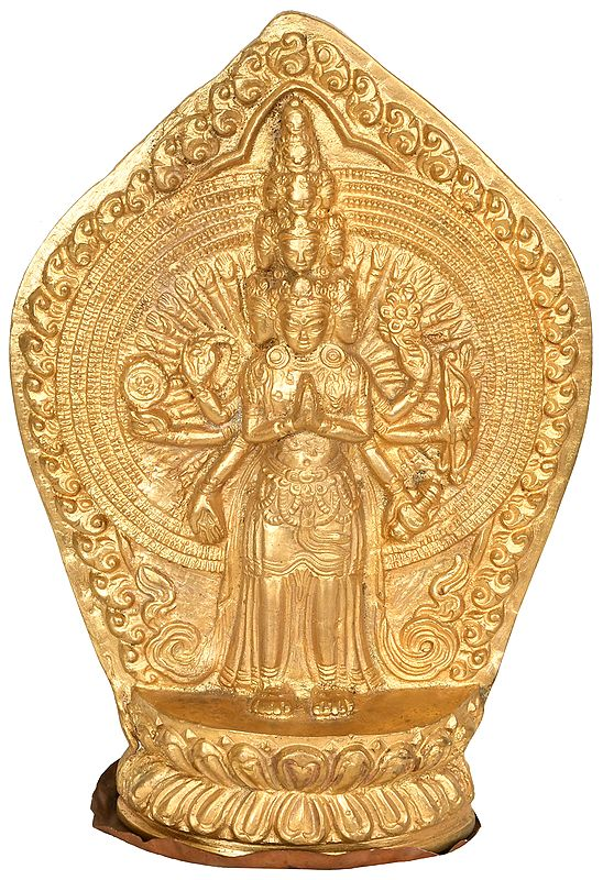 Thousand Armed Avalokiteshvara Votive Plate