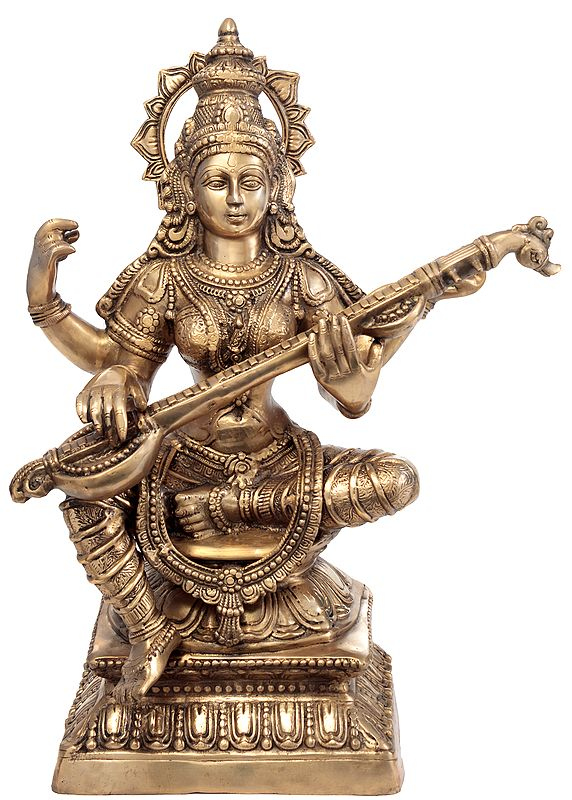 Large Size Saraswati, The Goddess of Three-Fold Knowledge