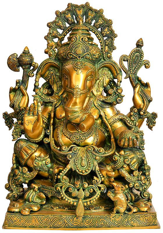 Superbly Decorated Lord Ganesha