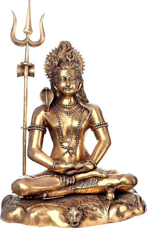 Large Size Meditating Shiva