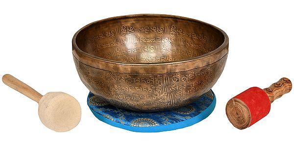 Superfine Tibetan Buddhist Vishva-Vajra Singing Bowl