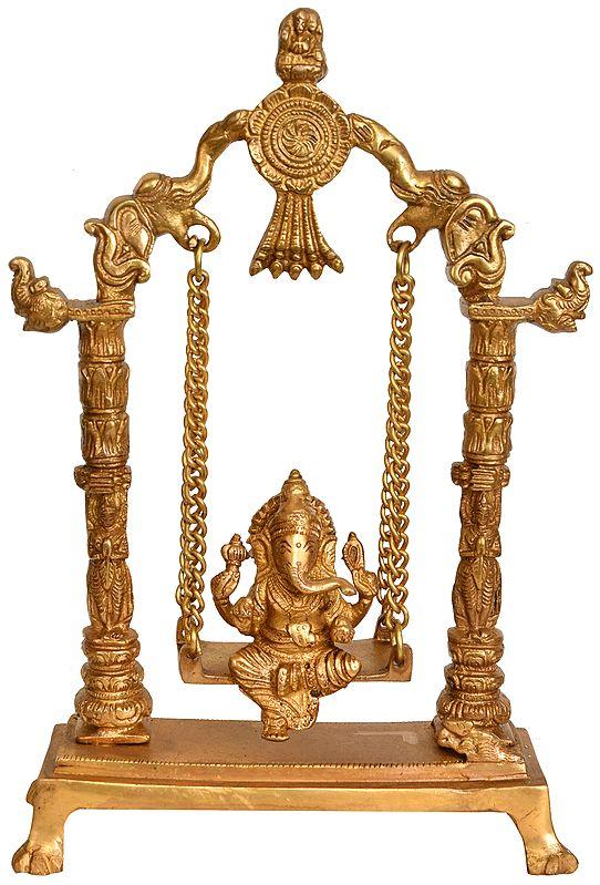 Lord Ganesha on an Elephant Swing