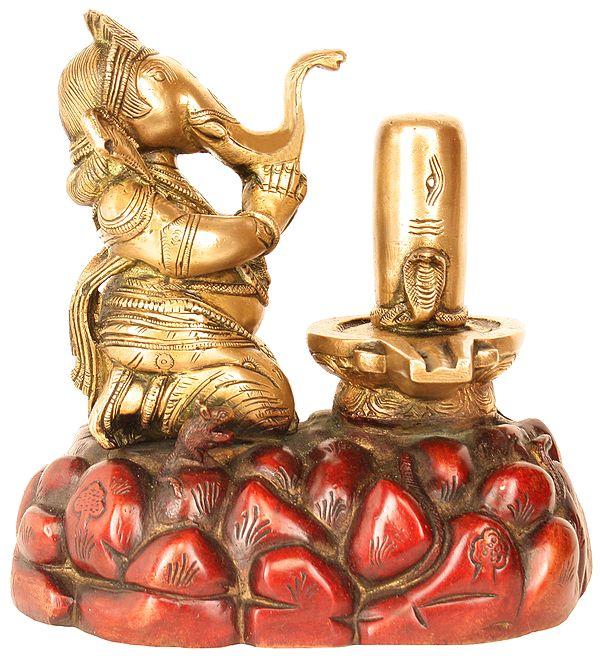 Worshipping Lord Shiva