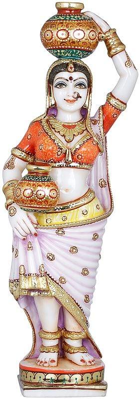 Rajasthani Paniharin Carrying Pots