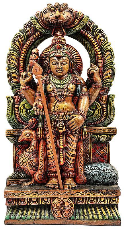 Gloried Kartikeya with Peacock