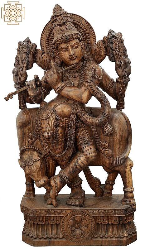 The Bovine Companion Tribhanga Murari