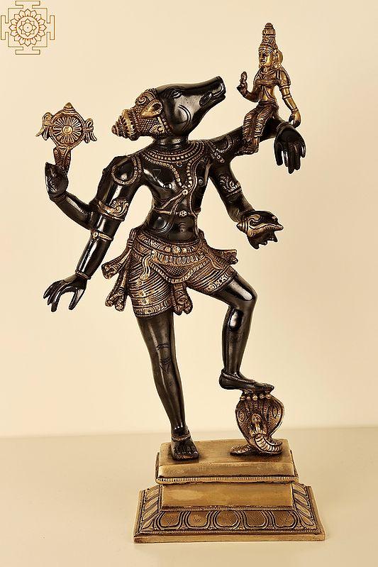 Varaha Avatara of Vishnu with Bhudevi (Boar Incarnation of Lord Vishnu)