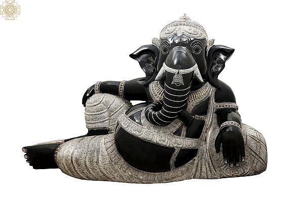 Gentle Ganesha Reclines