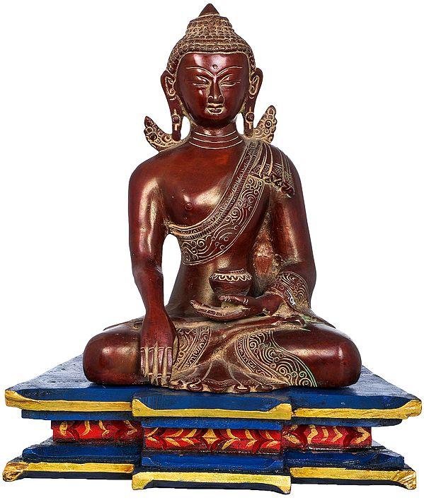 Lord Buddha in Earth Touching Gesture - Tibetan Buddhist