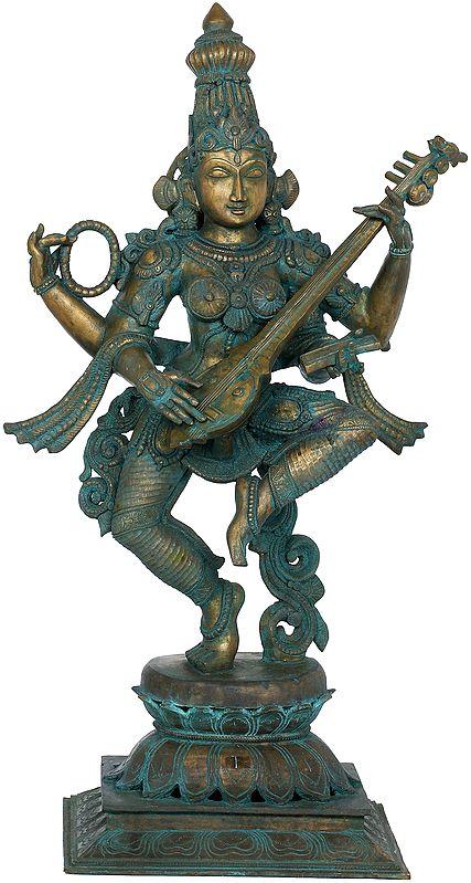 Motioning In Dance, The Veenavadini Devi Sarasvati