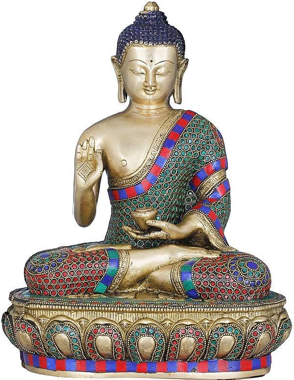 Lord Buddha Preaching His Dharma - Tibetan Buddhist