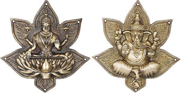Star Lakshmi Ganesha Wall Hanging