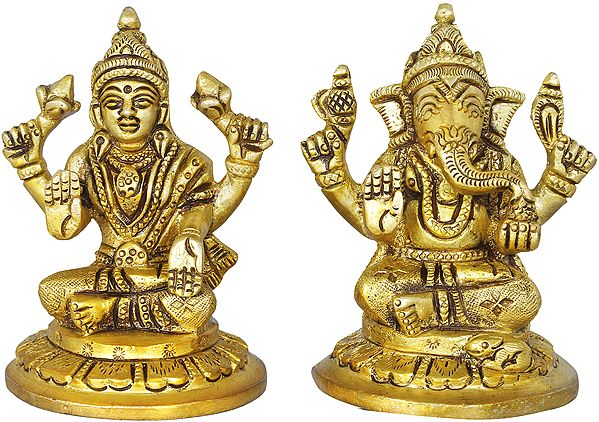 Small Size Lakshmi Ganesha