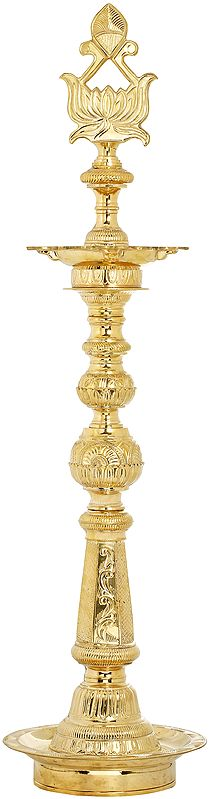 Auspicious Lotus Lamp - Large Size