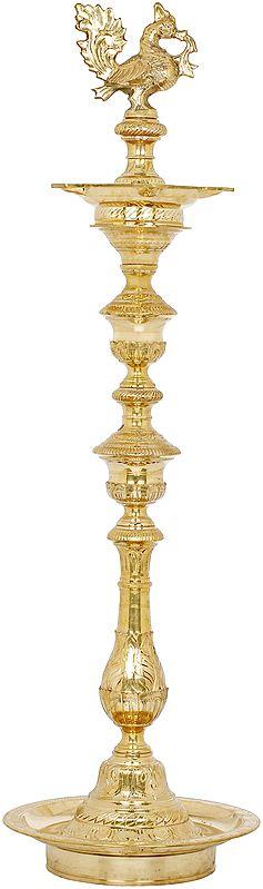 Resplendent Peacock Lamp (Annam Lamp)