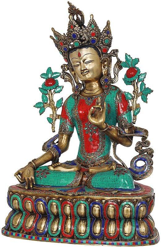White Tara, The Supreme Female Deity In Tibetan Buddhism (Large Size)