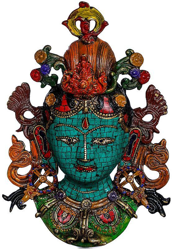 Goddess Tara Wall Hanging Mask - Made in Nepal