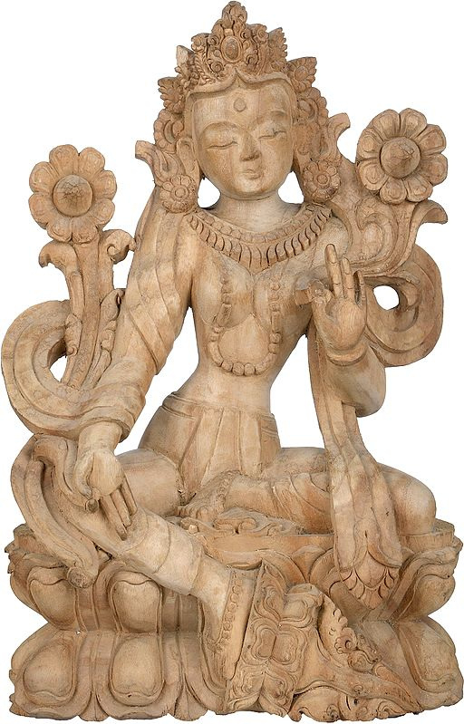 Tibetan Buddhist Goddess Green Tara - Made in Nepal