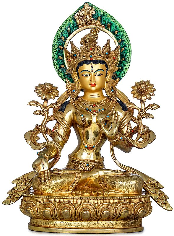 Superfine Tibetan Buddhist Bodhisattva White Tara - Made in Nepal