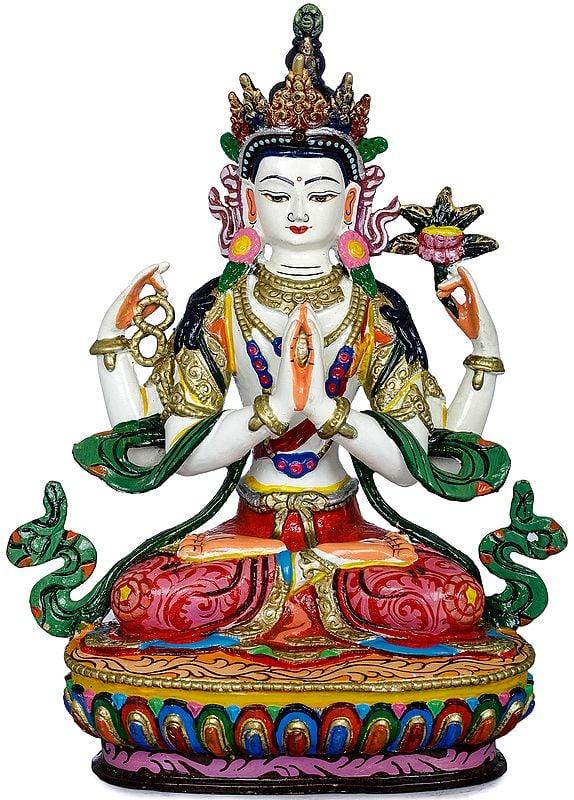 Tibetan Buddhist Bodhisattva Deity Chenrezig  (Made in Nepal)