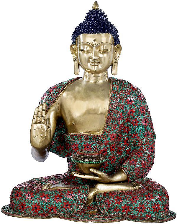 Large Size Buddha Preaching His Dharma - Tibetan Buddhist