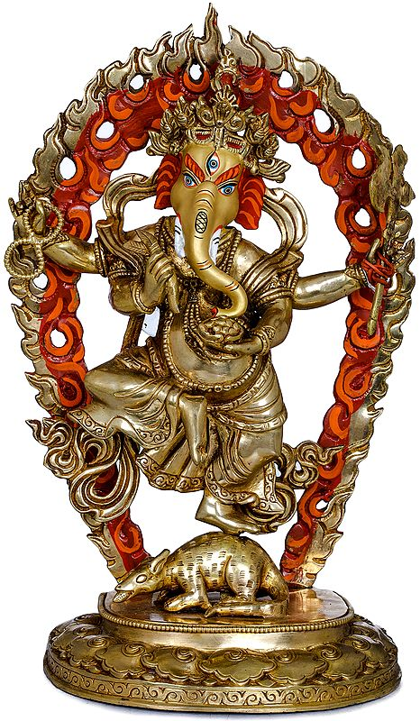 Four Armed Dancing Ganesha- Made in Nepal