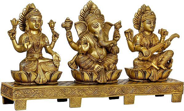 Lakshmi Ganesha Saraswati